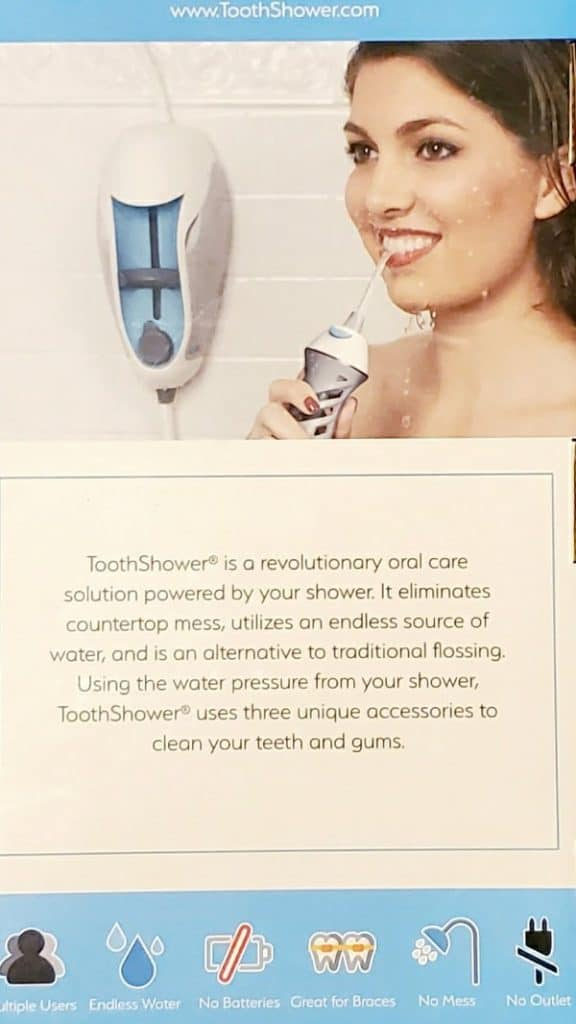 toothshower instructions